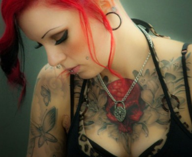 Red hair girl tattoo