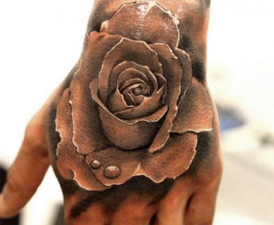 Red stunning roses tattoos
