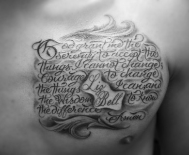 Serenity Prayer Tattoo
