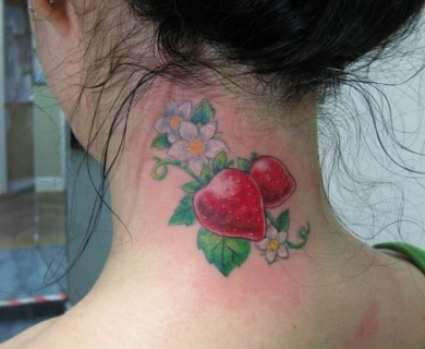 Strawberries tattoos