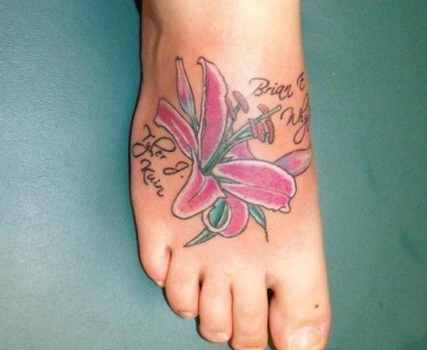 Tiger Lily Tattoo Designs