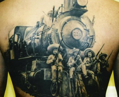 Train tattoos
