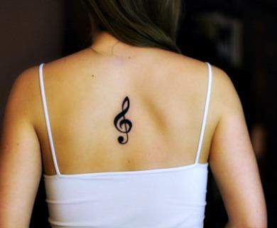 Treble Clef Tattoos