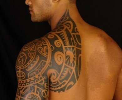 Tribals tattoos on shoulders