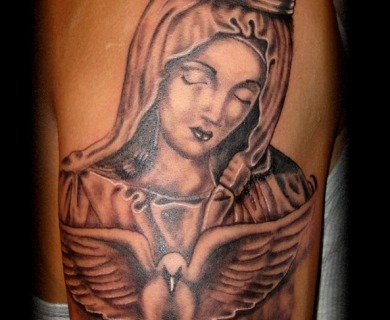 Virgin Mary Tattoo Designs