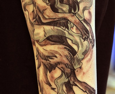 Wild animal tattoos