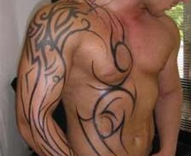 Wonderful looking men's shoulder tattoos