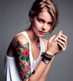 Beautiful-Girl-With-Sleeve-Tattoo