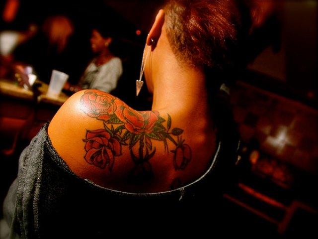 black female tattoo