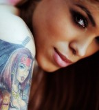 Girl tattoo blondie