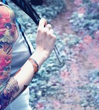 Girl tattoo summer