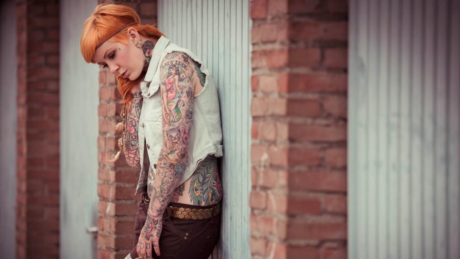Girl tattoo urban