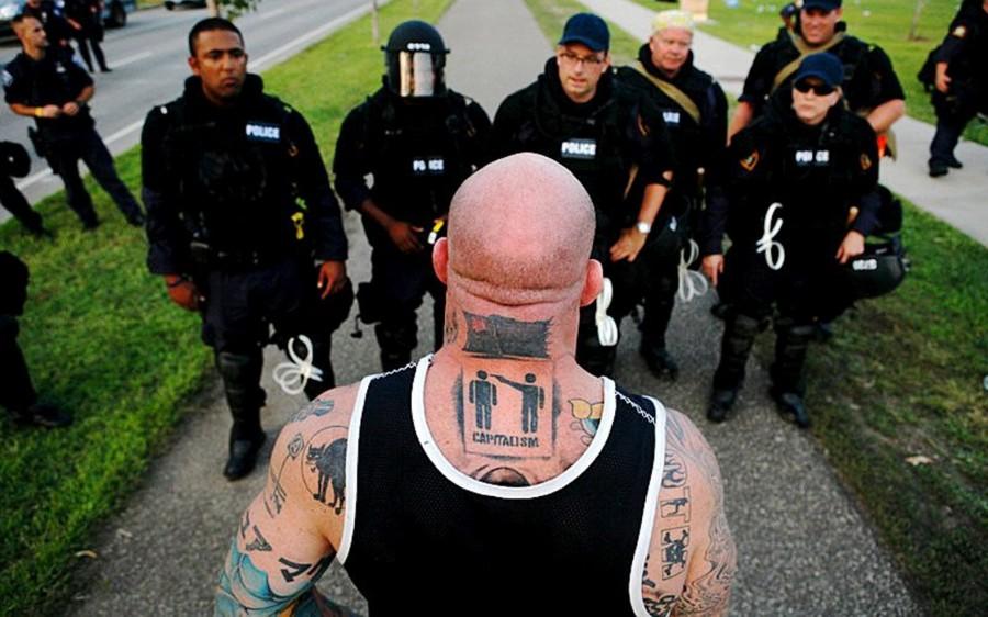 Men Tattoo designs 1 vs police