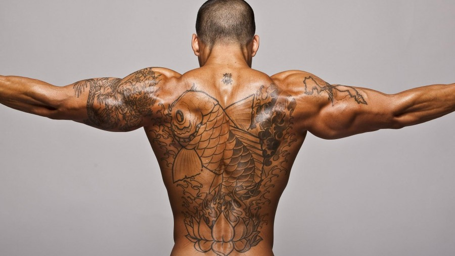 Men Tattoo designs hands and back
