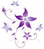 flower design purple fairy