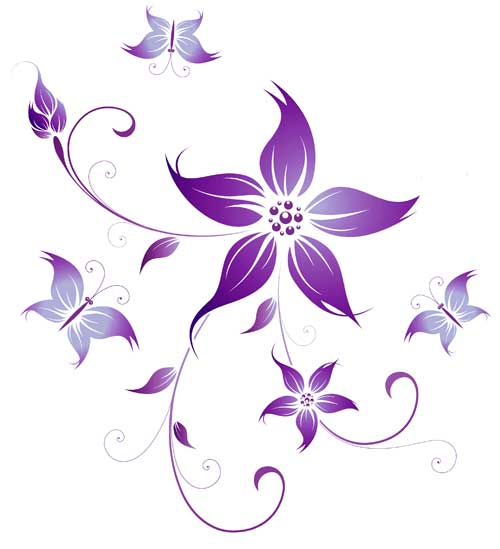 flower purple designs tattoo flowers fairy tattoos iris graphic clipart library cliparts tattoomagz floral clip swirly body gridgit