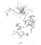 flower designs for tattoos flower black