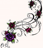 flower designs for tattoos in color