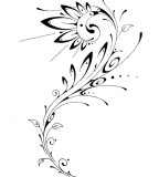 flower designs for tattoos tribal