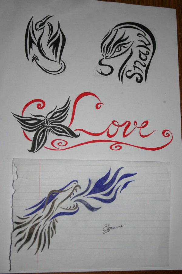 small tattoo designs on paper