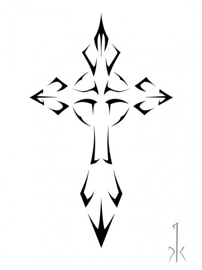 tattoo cross designs cross in tribal