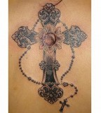 tattoo cross designs rossary
