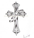 tattoo cross designs tribal cross