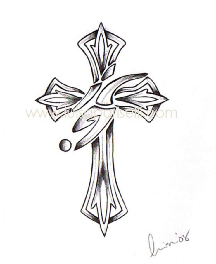 tattoo cross designs tribal cross