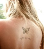 women tattoo designs butterfly on back