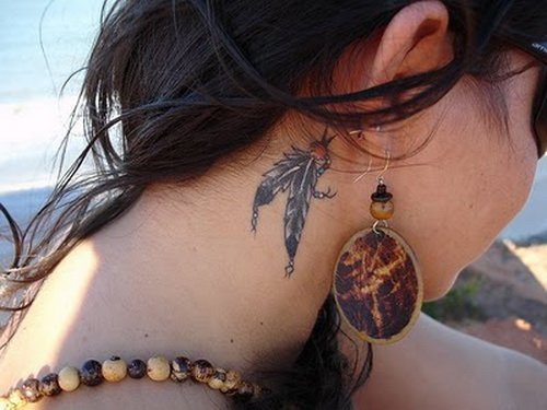 women tattoo designs neck