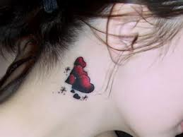 women tattoo designs red