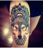 Awesome-Wolf-Leg-Tat