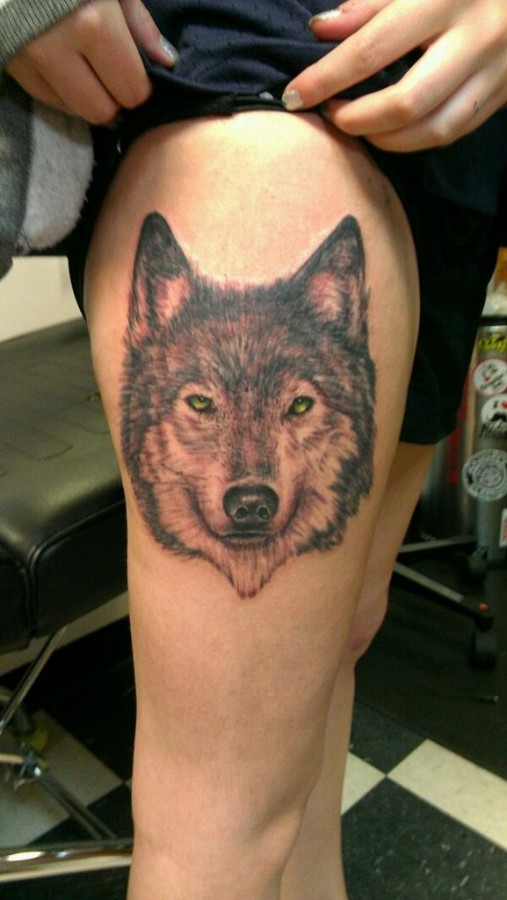 Cool-wolf-tattoo