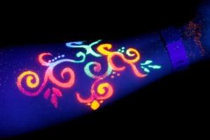 blacklight tattoo colorful ornament