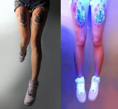 blacklight tattoo crystals