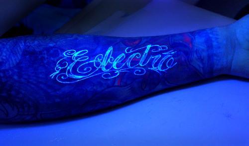 blacklight tattoo electric