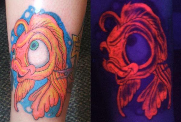 blacklight tattoo fish