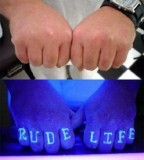 blacklight tattoo rude life