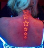 blacklight tattoo stars