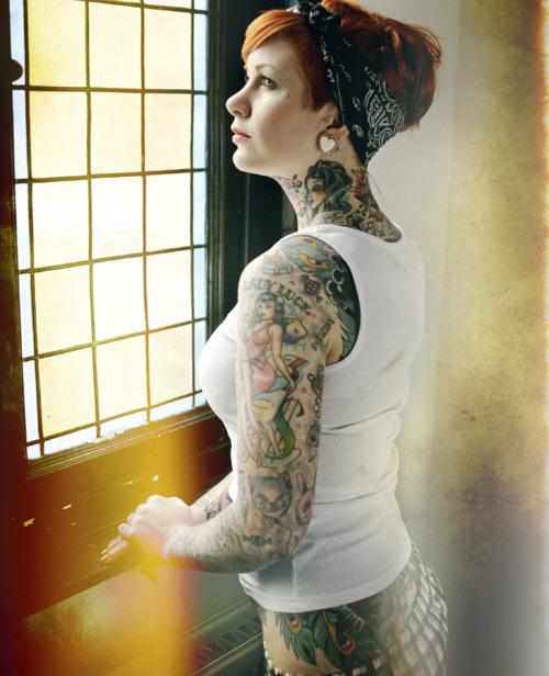 Red Hair Girl Tattoo Bandana Girl Tattoomagz Tattoo