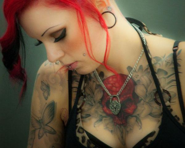Red hair girl tattoo