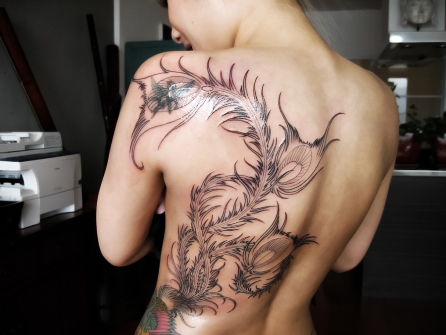 tattoo picture gallery girl back big