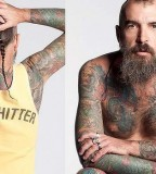 all body tattoo for man bearded man