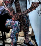 all body tattoo for man boy painting