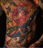 all body tattoo for man bright suit