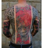 all body tattoo for man devil by little swastika