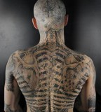 all body tattoo for man zombie boy