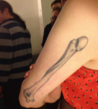 anatomical tattoo arm bone