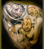 anatomical tattoo full back