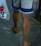 anatomical tattoo leg bones